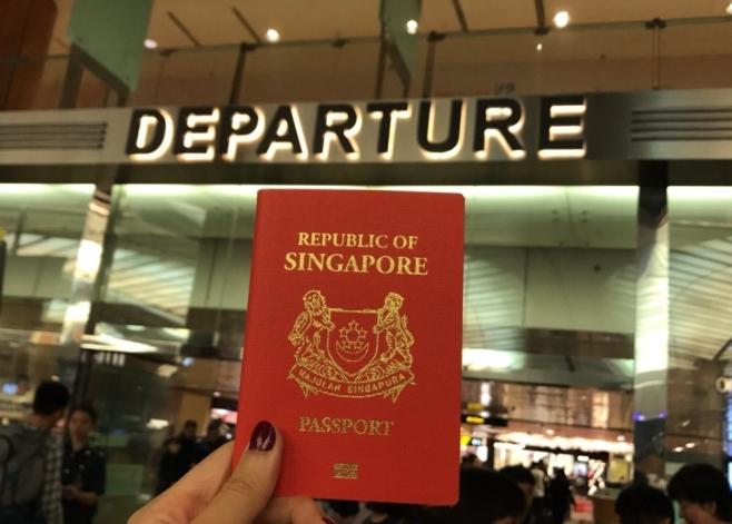 Passport at departure
